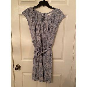 Paisley summer pleated dress large